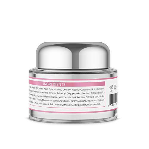 412jeU7ML2L - L'amore Beauty Collagen Retinol Cream (30mL) Anti-Aging Day and Night Facial | Age Defying Skincare Firms and Lifts Wrinkles, Fine Lines | Hydrating Face, Neck, Décolleté Moisturizer
