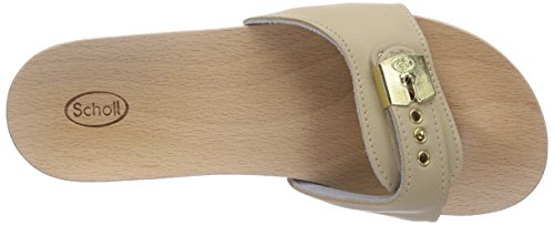 Zoccoli Donna Sand Wedge Scholl Beige Pescura Yq0ppT