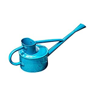 calunce hierro brillante color rústico Retro herramientas de jardinería largo boquilla regadera (azul)