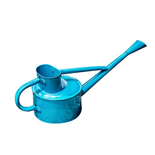 Calunce Iron Bright Colour Rustic Retro Gardening Tools Long Spout Watering Can (blue)