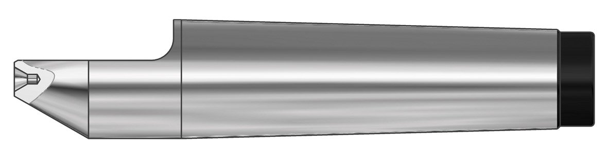 95.5mm Length 18mm Point Diameter R/öhm 15010 Type 674 Tool Steel Half Point Dead Center with Center Bore Morse Taper 2