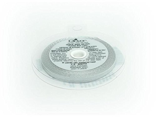 Quick Bias Tape - Clover Quick 11-Yard Bias, Silver