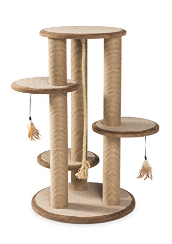Prevue Pet Products 7150 Kitty Power Paws Multi-Platform Posts with Tassels Cat Scratcher, Natural (Sell Ikea Furniture)