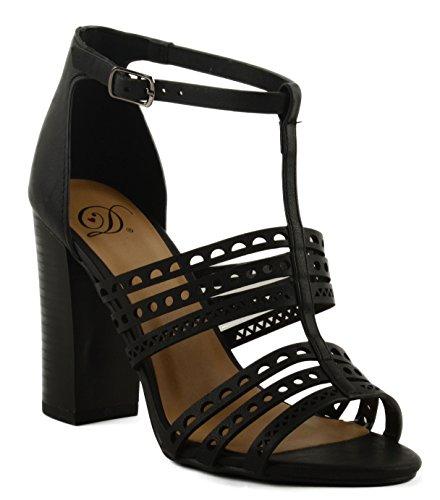 Tstrap Women's Black NB Belong Heeled Sandal Block Delicious 7EznY7Z
