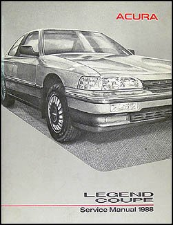 1988 acura legend coupe repair shop manual original acura amazon rh amazon com 2001 Acura Legend 1993 Acura Legend