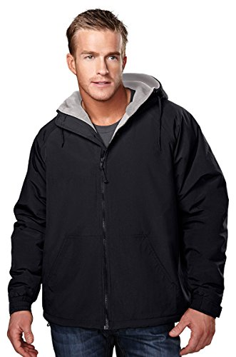 Tri Mountain Heavyweight Toughlan Nylon Hooded Jacket   8480 Conqueror