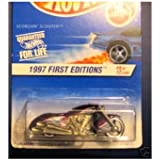 Mattel Hot Wheels 1997 First Editions 1:64 Scale Purple Scorchin Scooter Die Cast Motorcycle #009