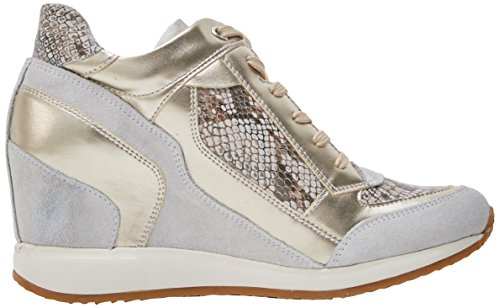 Blanco Mujer Zapatillas para Nydame Off Altas D A Geox White tAw0Yq