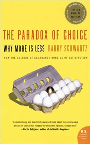 Paradox of Choice book