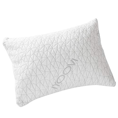 Bed Pillow,IYOOVI Neck Support Pain Relief Hypoallergenic Memory Foam Pillows,luxury Shredded Gel Pillow,Washable Cover,Removable Cooling Bamboo Derived Rayon Case,Dust Mite Resistant Sleeping Pillows
