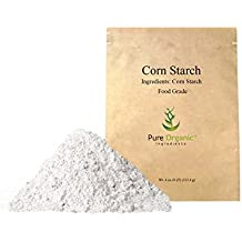 Pure Organic Ingredients Corn Starch, (4 oz) Thickener For Sauces, Soup, & Gravy, Highest Quality, Kosher, USP & Food Grade, Vegan, Gluten Free, Eco-Friendly (Also in 8 oz,1 lb, 2 lb, & 3 lb)