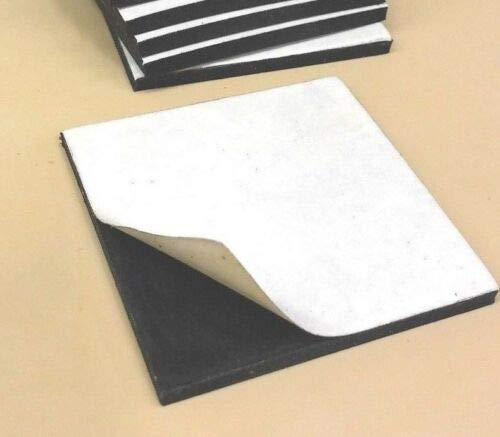 Neoprene Rubber Solid Sheet w//Peel-Back Adhesive 3//16Thk x 8 x 12 Pad