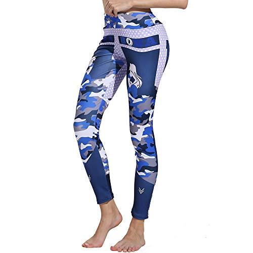Women's Print Workout Leggings Fitness Sports Gym Running Yoga Athletic Pants Ultrasoft Performance Sport Pants Chaofanjianca