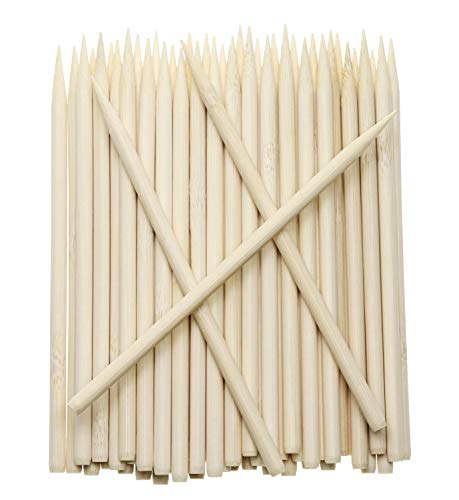 Review Penta Angel 5.5 inch Thick Bamboo Sticks for Cotton Candy Caramel Apple, Natural Birch Wooden...