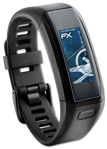 3 x atFoliX Panzerfolie Garmin Vivosmart HR Folie - FX-Shock-Clear ultraklar und stoßabsorbierend