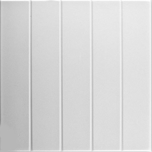 A la Maison Ceilings Model#804 Ceiling Tile (Package Of 8 Tiles), Plain - Panel Beadboard