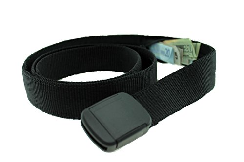 [Hiker Money Belt Made in USA by Thomas Bates (Black)] (Money Belt Buckle)