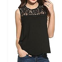 Amanod 2018 discounthotsale Women Chiffon Lace Sleeveless Shirt Blouse Casual Tank Tops