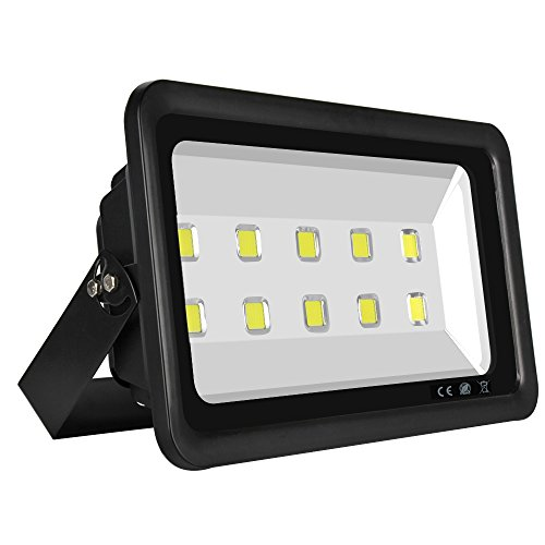 Dimgogo Super Bright 500W Led Floodlight Fixture High Power Indoor and Outdoor Cool White Floodlight,50000lm,Wide Beam Angle Square Lighting,85-265V