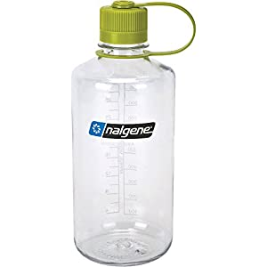 Nalgene Narrow Mouth 1 Qt Clear with Green Lid,32 oz