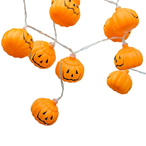 Hanbaili Halloween Pumpking String Light 20 LED Fairy 3D Light,3M,EU Plug ()