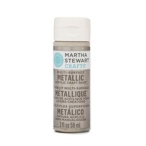 Martha Stewart Crafts Multi-Surface Metallic Acrylic Craft Paint in Assorted Colors (2-Ounce), 32994 -