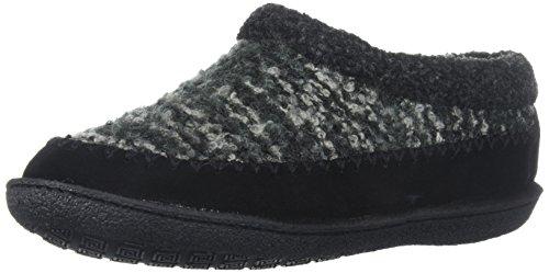 Staheekum Women's Plush Lined Boucle Slipper, Black, 7 M US -
