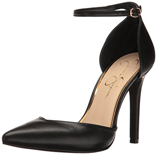 Jessica Simpson Women's Cirrus Pump, Black Sleek, 8.5 Medium US