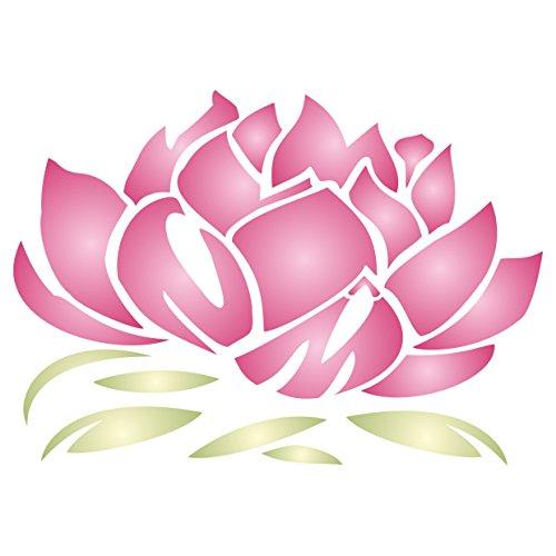 Lotus Blossom Stencil - (size 9.75