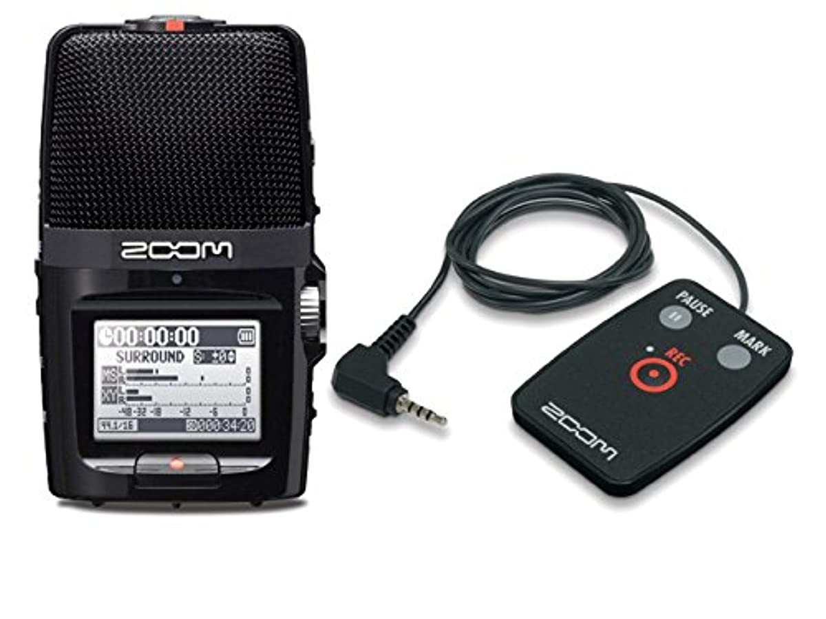[해외] ZOOM 핸디 레코더 H2N + 전용 리모트 컨트롤러 RC2 세트