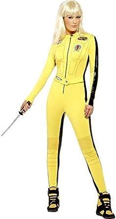 Ladies Sexy Kill Bill Film Ninja Assassin Halloween Fancy Dress ...