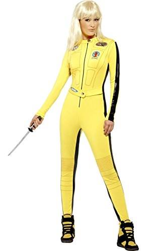 Ladies Sexy Kill Bill Film Ninja Assassin Halloween Fancy Dress Costume Outfit UK 8-12 (UK 12-14) -