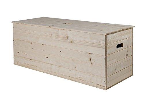 Aufbewahrungsbox 100 X 40 X 40 Cm Spielzeugkiste Holztruhe aus massivem Kiefernholz Spielzeugbox