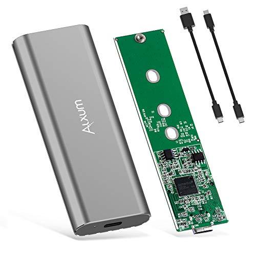 Alxum NVMe SSD-behuizing USB 3.1 Gen 2 Type C Gereedschapsloos naar M.2 (M-sleutel) SSD-behuizing voor harde schijf…