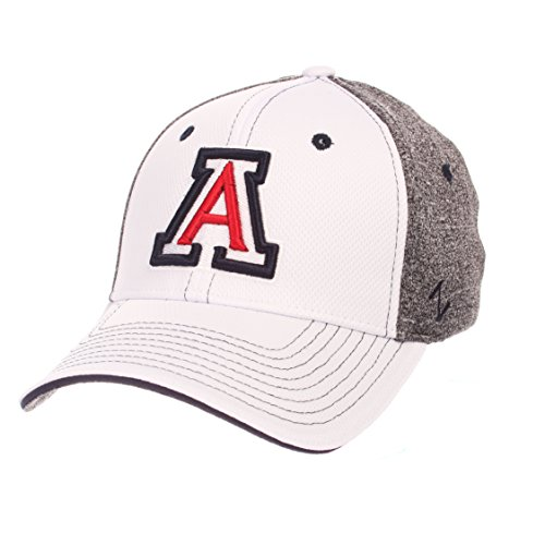 Wildcats Arizona Hat (Zephyr NCAA Arizona Wildcats Adult Men Equinox Hat, X-Large, White/Heather Gray)