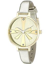 kate spade new york Womens 1YRU0878 Metro Analog Display Japanese Quartz Gold Watch