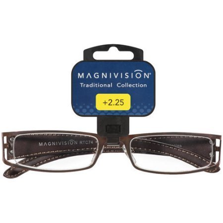 Magnivision Naples +1.00 Copper Metal Frame Brown Woven Leather Temples Reading Glasses (Naples Metal)