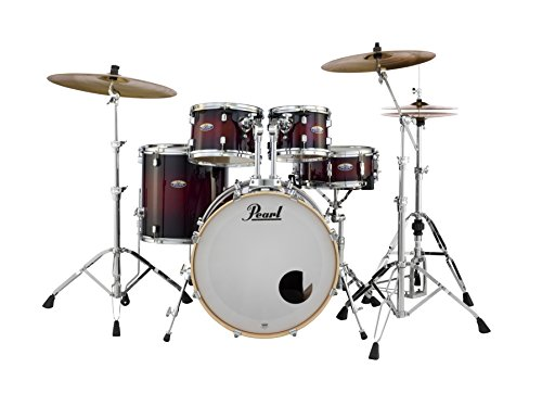 Pearl Decade DMP925SP/C261 5 Piece Drum Shell Pack, Gloss Deep Redburst