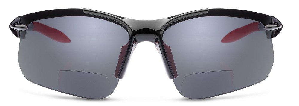 5c5048b6e5 Amazon.com  Dual Eyewear SL2 Pro Sunglasses  +2.0 Power Magnification  Black  Frame Gray Lens  Health   Personal Care