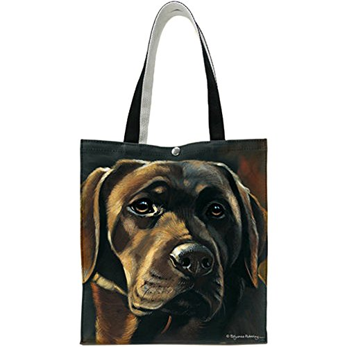 Elbow Lab Chocolate Fiddlers - Chocolate Labrador Tote by Fiddler's Elbow