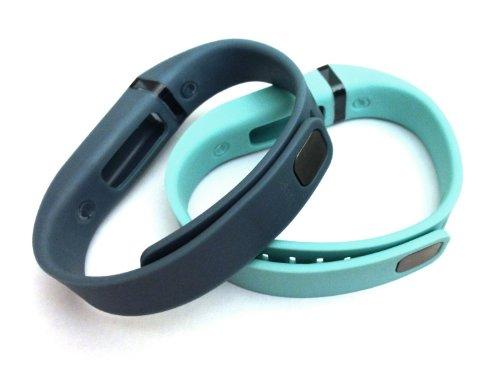 [해외]세트 큰 L 1pc 청록색 (청색 녹색) 1pc 슬레이트 (청색 회색) Fitbit 전용 클램프가있는 교체 용 밴드 FLEX 만 해당 추적기 없음 무선 작동 팔찌 Spo/Set Large L 1pc Teal (Blue Green) 1pc Slate (Blue Grey) Replacement Bands with Clasps for F...