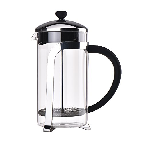French Press Coffee & Tea Makers 8 Cup (1 liter, 34oz) 304 Grade Stainless Steel, Heat Resistant Borosilicate Glass Classical Review
