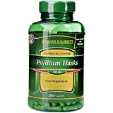 Holland & Barrett Psyllium Husks 500mg Capsules, 200 count
