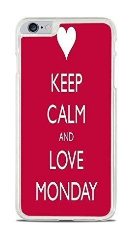 Keep Calm and Love Monday Clear Hardshell Case for iPhone 6+ (5.5)