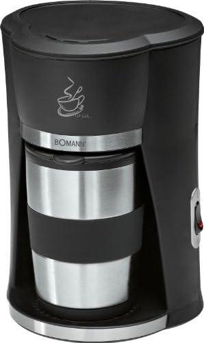 Cafetera de 1 taza, cafetera de oficina para 1 persona, termo, taza de acero inoxidable (café para llevar, taza de café, taza hermética con tapa, 300 ml): Amazon.es: Hogar