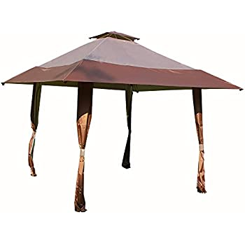 Cloud Mountain 13u0027 x 13u0027 Pop Up Canopy Outdoor Yard Patio Double Roof Easy Set Up Canopy Tent for Party Event Brown Tan  sc 1 st  Amazon.com & Amazon.com : Outsunny Easy Pop Up Canopy Tent with Mesh Side Walls ...