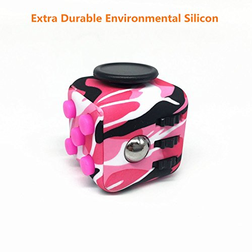 CHIRISEN Fidget Toy Relieves Stress And Anxiety for Children and Adults Anxiety Attention Toy (Camo Pink)