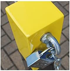 H//D Removable Security Bollard with Top Mounted Chain Eyelets 001-1940 K//D, 001-1930 K//A Keyed to Differ Please