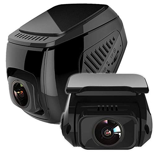 idealTech X1D Dash Cam Front and Rear 1080P+1080P Dual Lens Built-in WIFI, Powerd by SUPER Capacitor Support up to 256GB TF - Battery Powerd Cameras