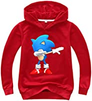 SUPFANS Kids Boys Sonic The Hedgehog Hoodie Sonic Sweatshirt Long Sleeve Hooded Shirt